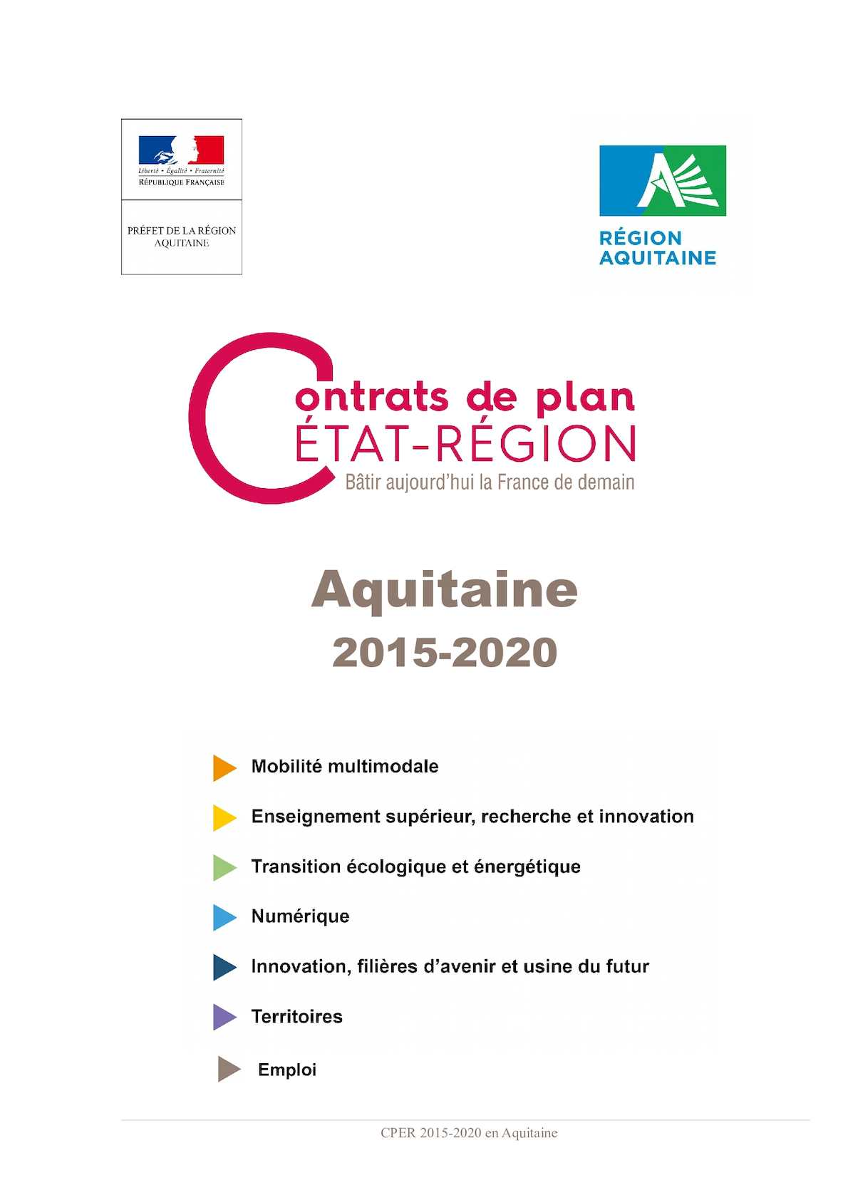 Calaméo Contrat De Plan Etat Région Aquitaine 2015 2020