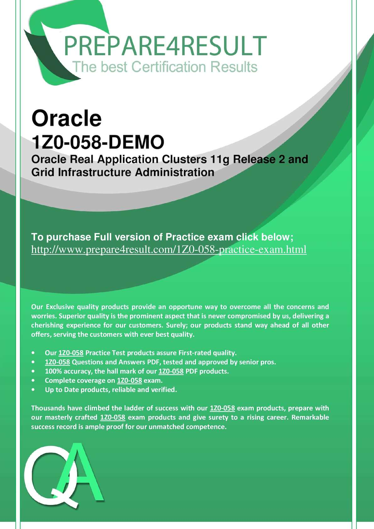 Calaméo - 1Z0-058 Oracle Database 12c Administrator