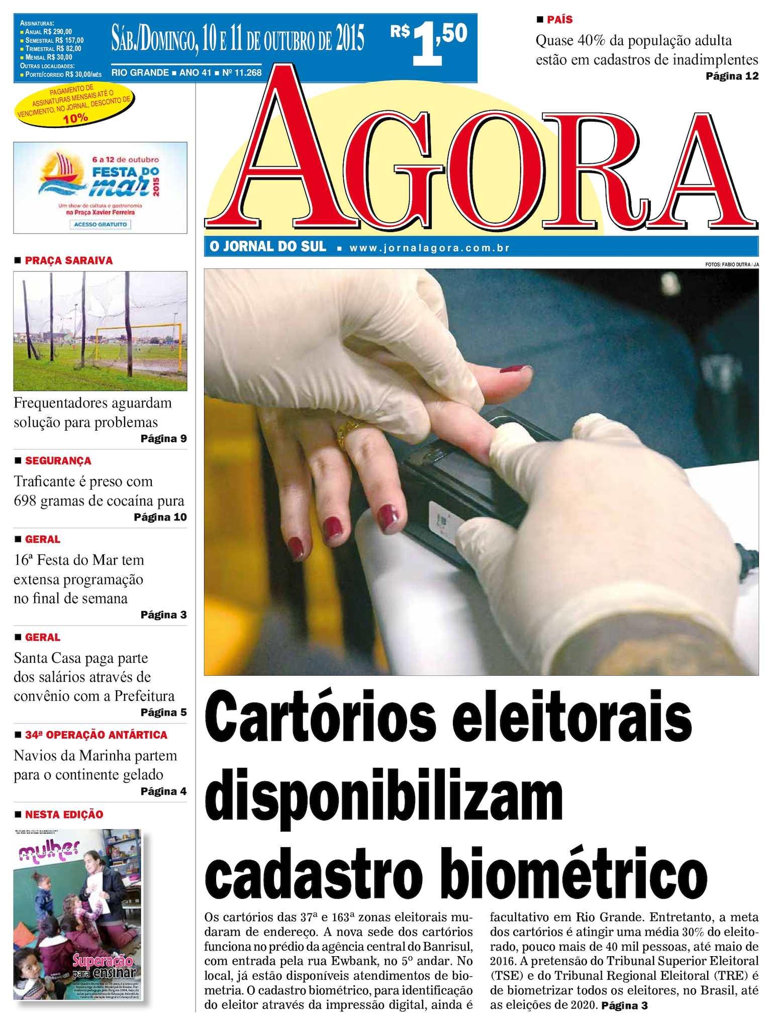 5cc6dfa03278d Calaméo - Jornal Agora - Edição 11268 - 10 e 11 de Outubro de 2015
