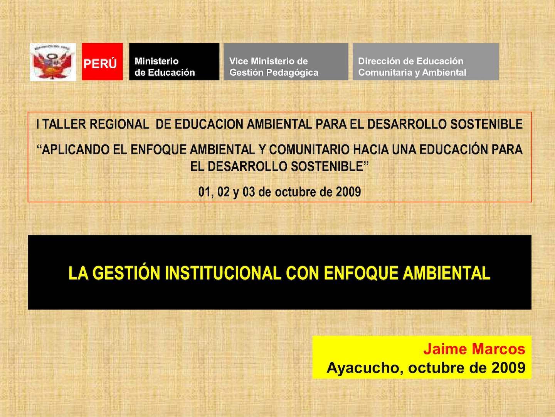 Calameo Ppt Gestion Institucional E Ambiental