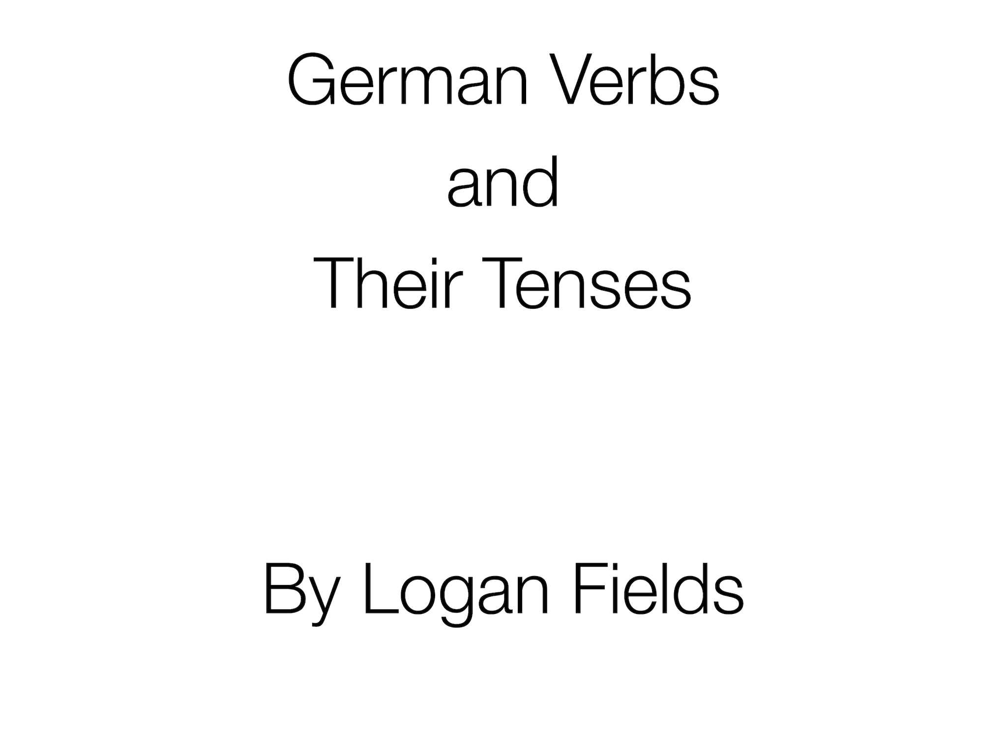 German Present Tense - Regular Verbs   German is easy!