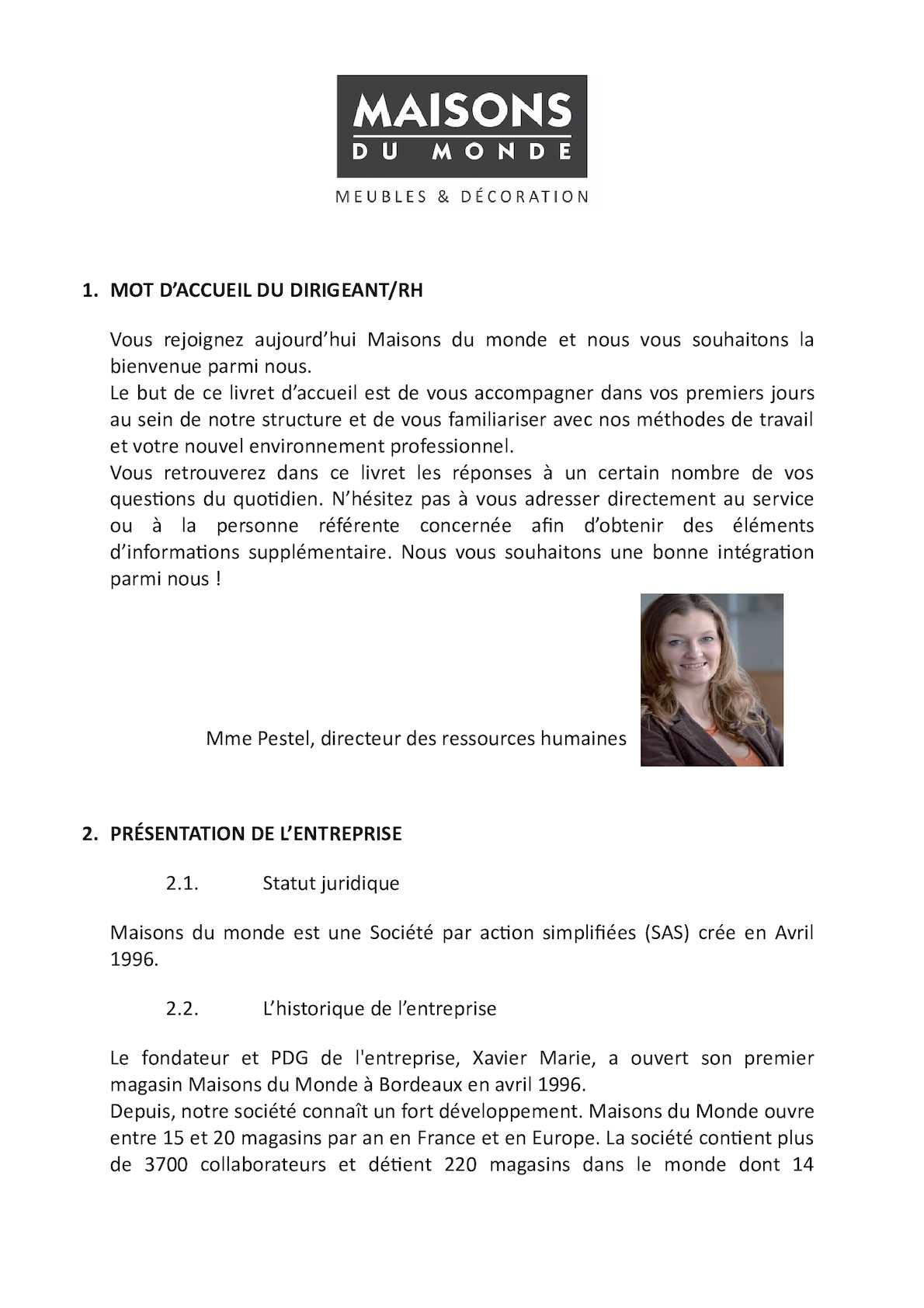 Livret D\'accueil Maisons Du Monde - CALAMEO Downloader