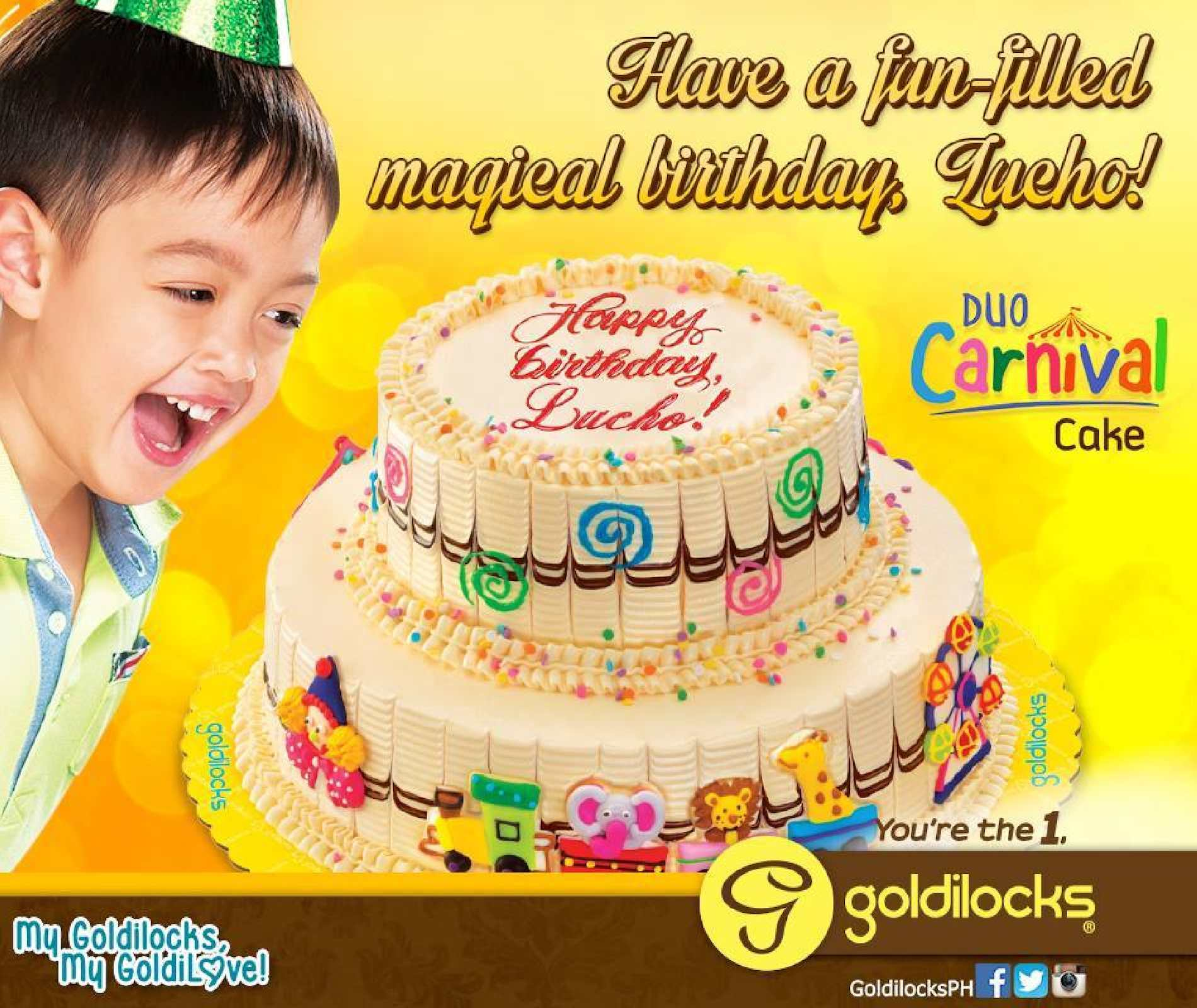 Awe Inspiring Calameo Duo Carnival Cake For Only P520 At Goldilocks While Funny Birthday Cards Online Alyptdamsfinfo