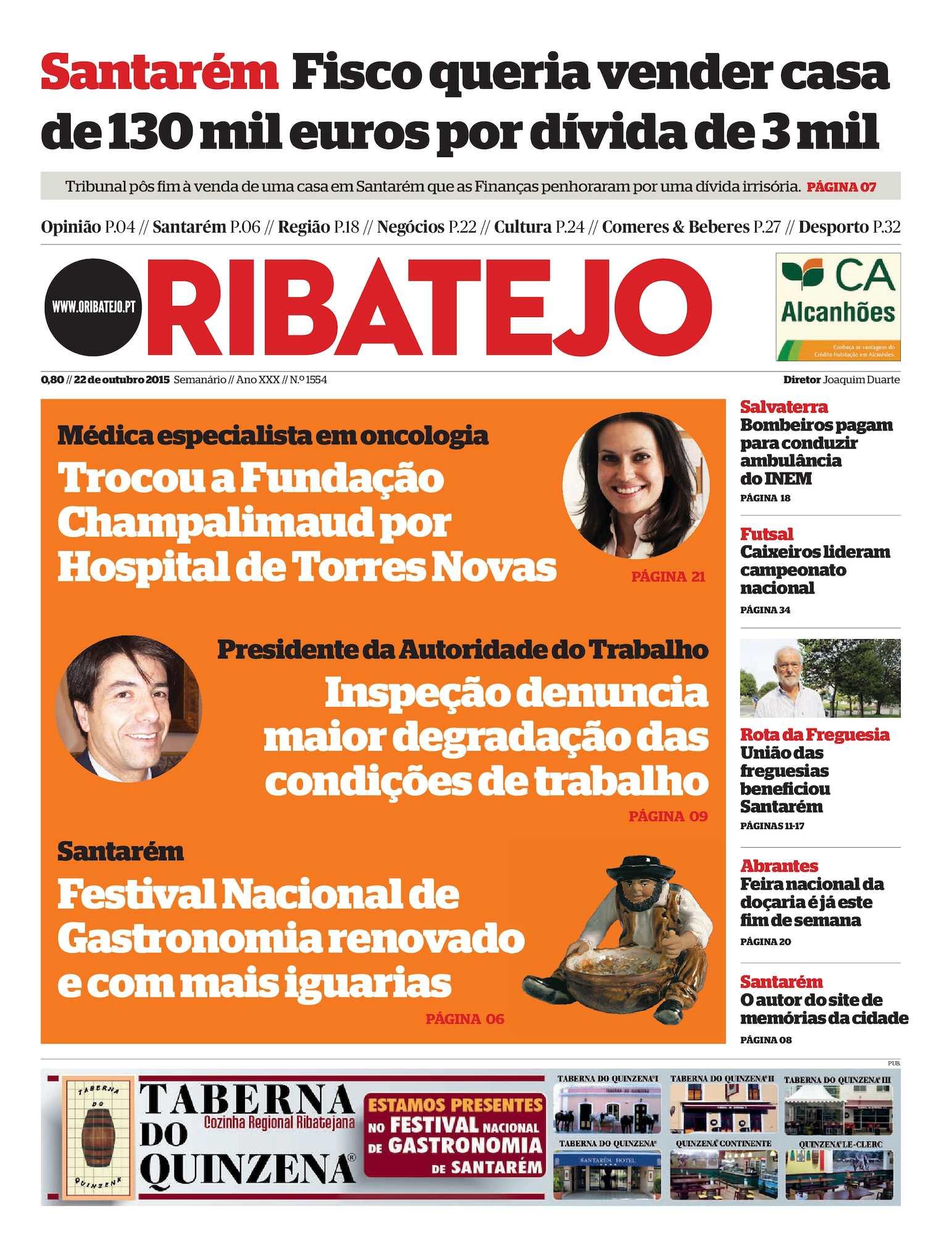 6e3b55d35ad37 Calaméo - Edição 1554 do Jornal O Ribatejo - 22 de Outubro de 2015