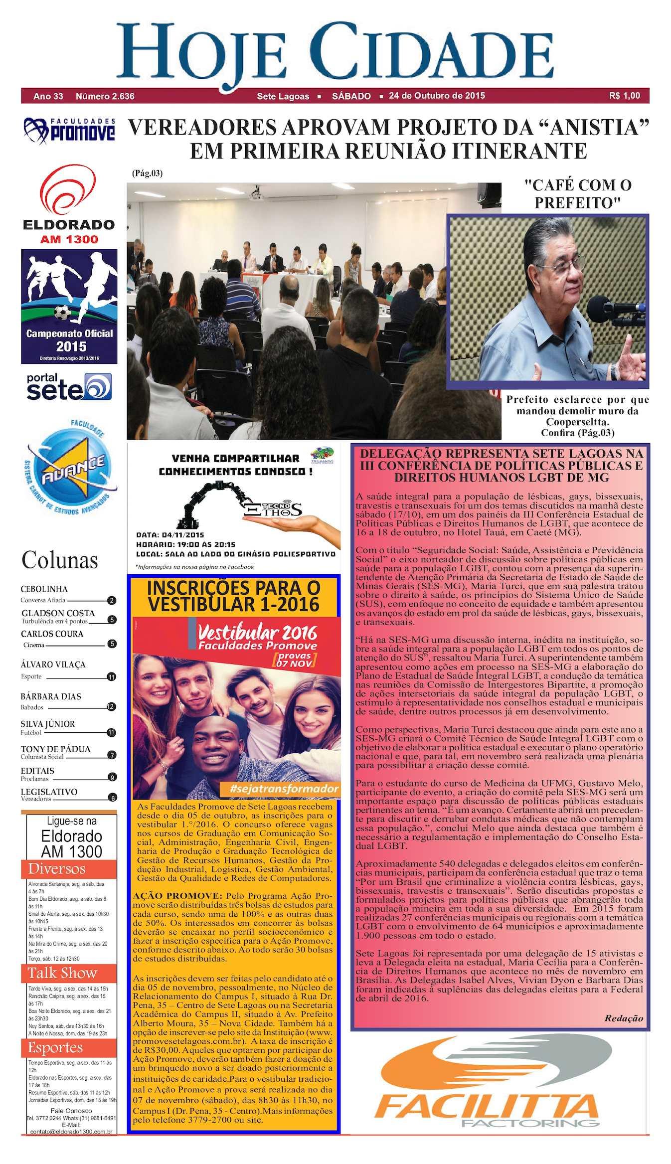 81223713bf Calaméo - Jornal Hoje Cidade 24 10 2015