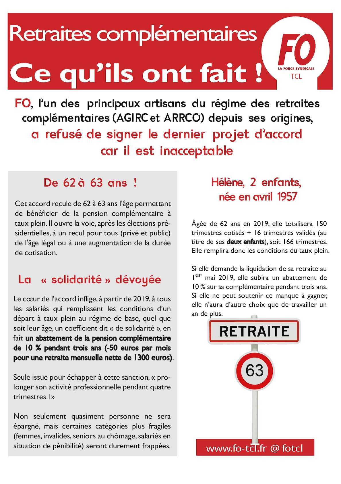 Calameo Tract Fo Tcl Retraites Complementaires