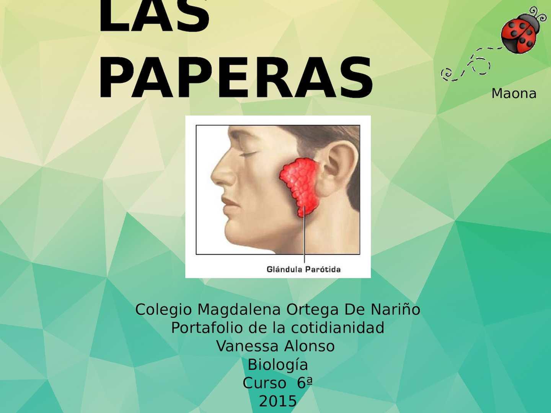 paperas adultos periodo contagio