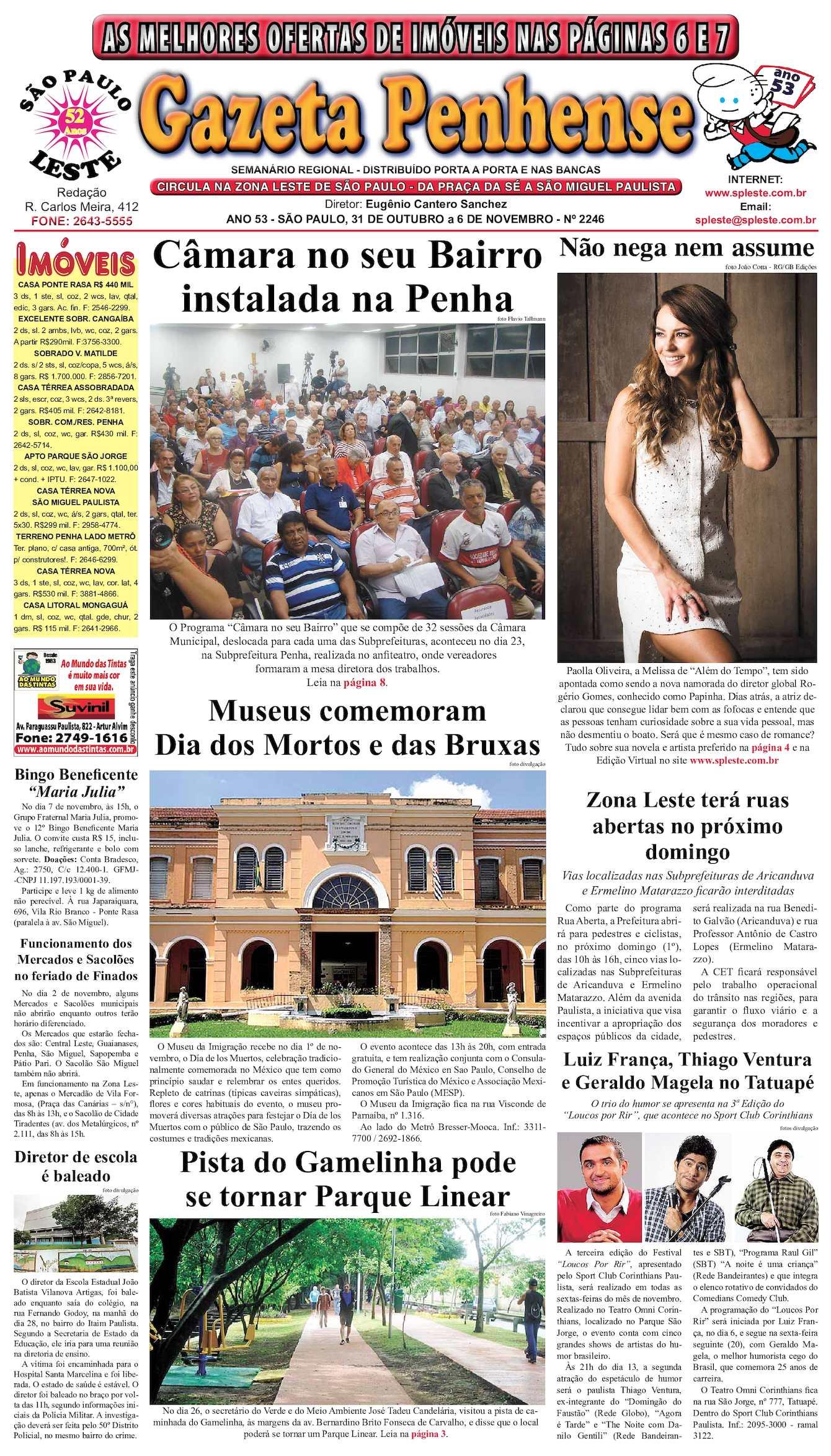 a0c90fc199 Calaméo - Gazeta Penhense - edição 2246 31.10 a 6.11.15