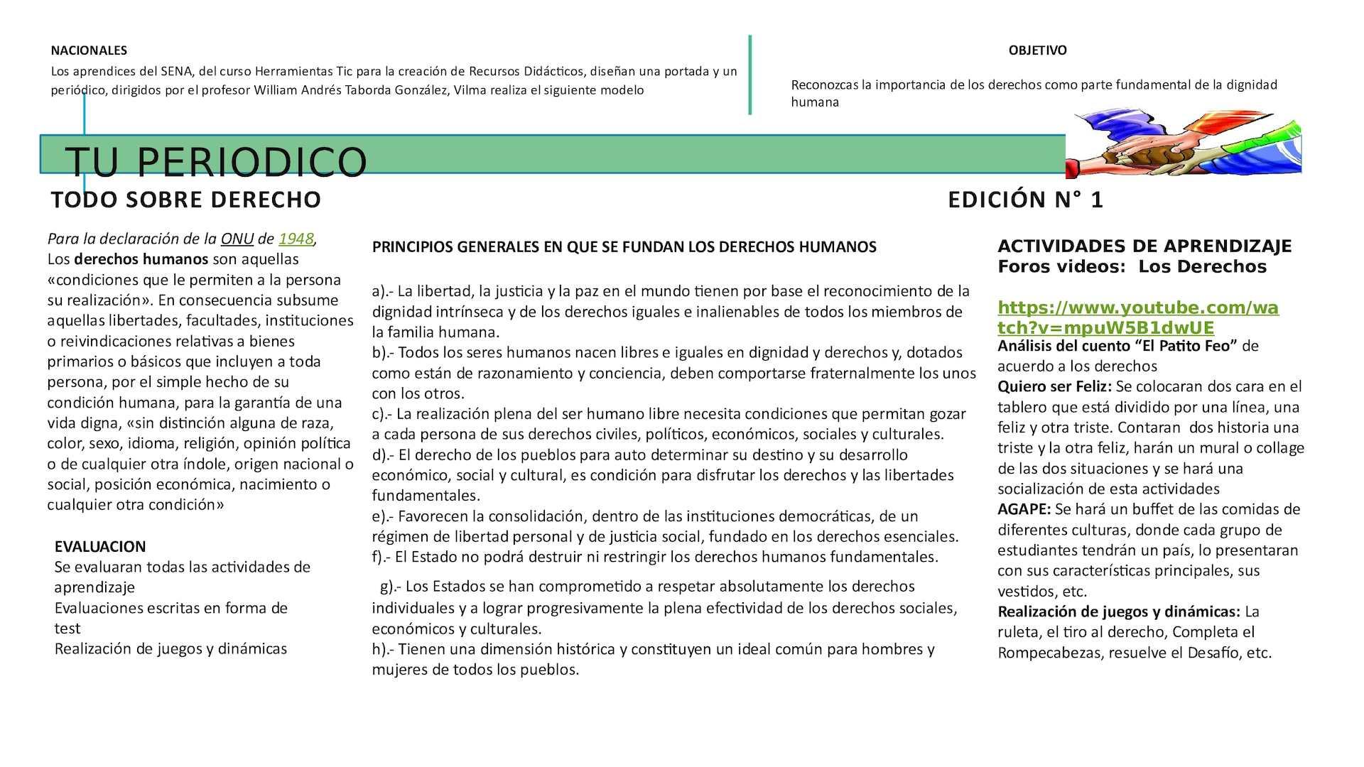 Calameo Presentation1 Periodico Los Derechos