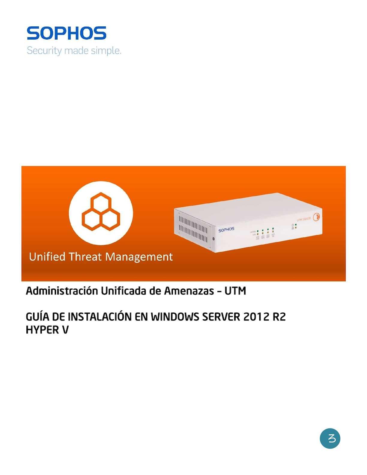 Manual UTM Sophos en Hyper-V - CALAMEO Downloader