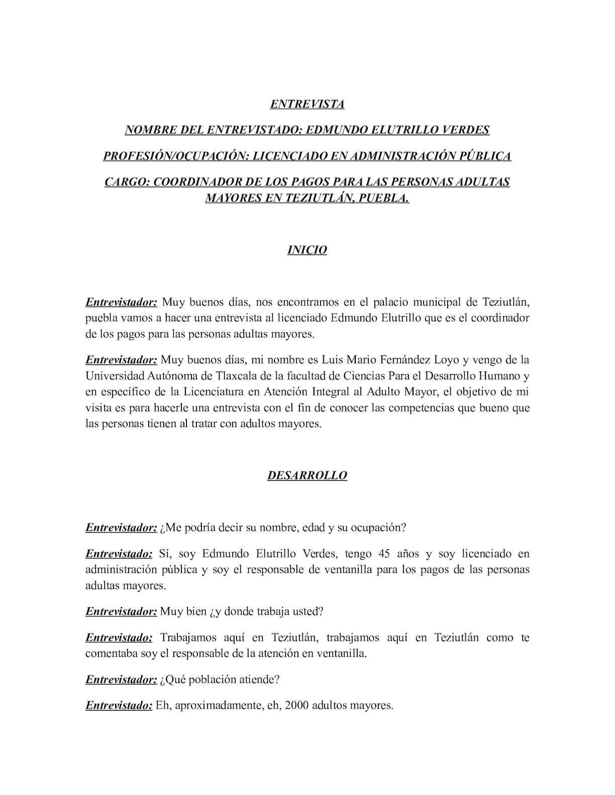 Calaméo Entrevista Escrita