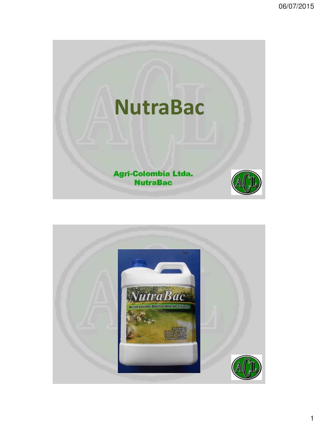Nutra Bac Aguas Residuales