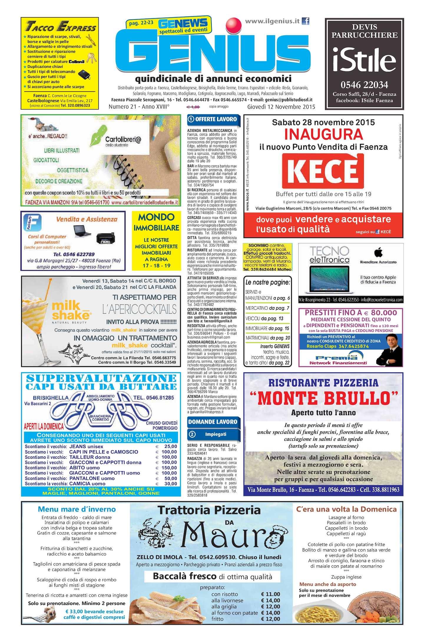Lettino Massaggio Portatile San Marco.Calameo Num 21 Del 11 Novembre 2015