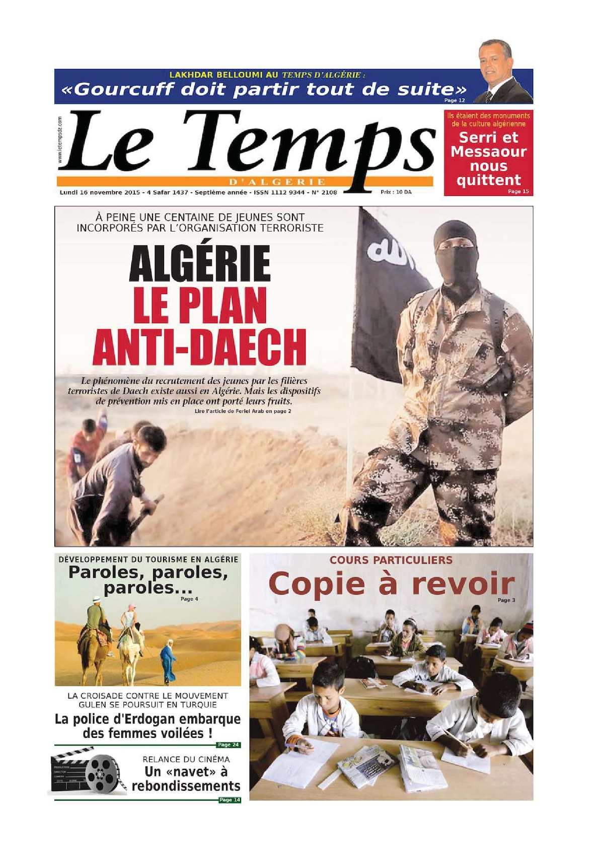 daech menace algerie