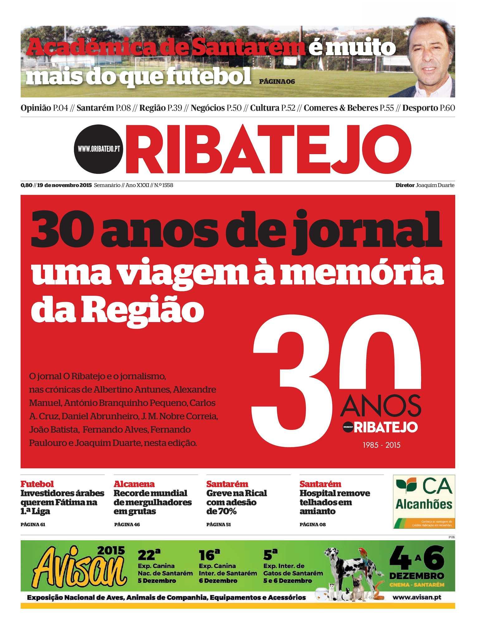Calaméo - Edição 1558 do Jornal O Ribatejo - 19 de Novembro de 2015 4ceb8f8825887