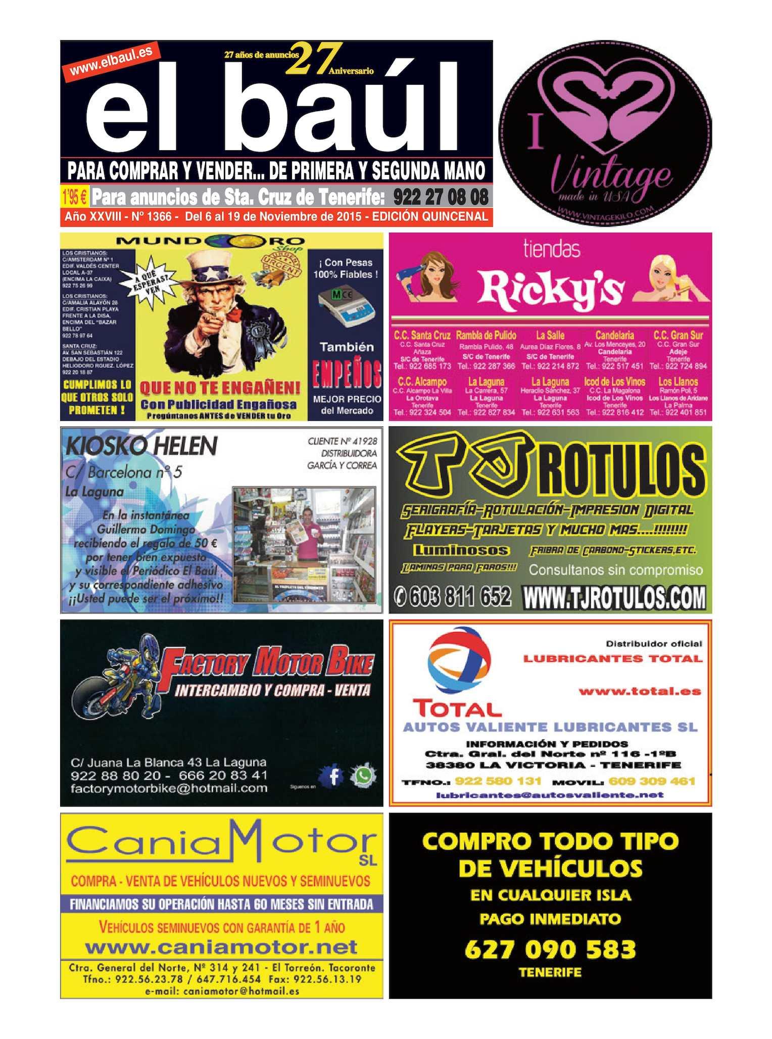 Calaméo - Periódico El Baúl segunda mano edición Tenerife 6e207208748