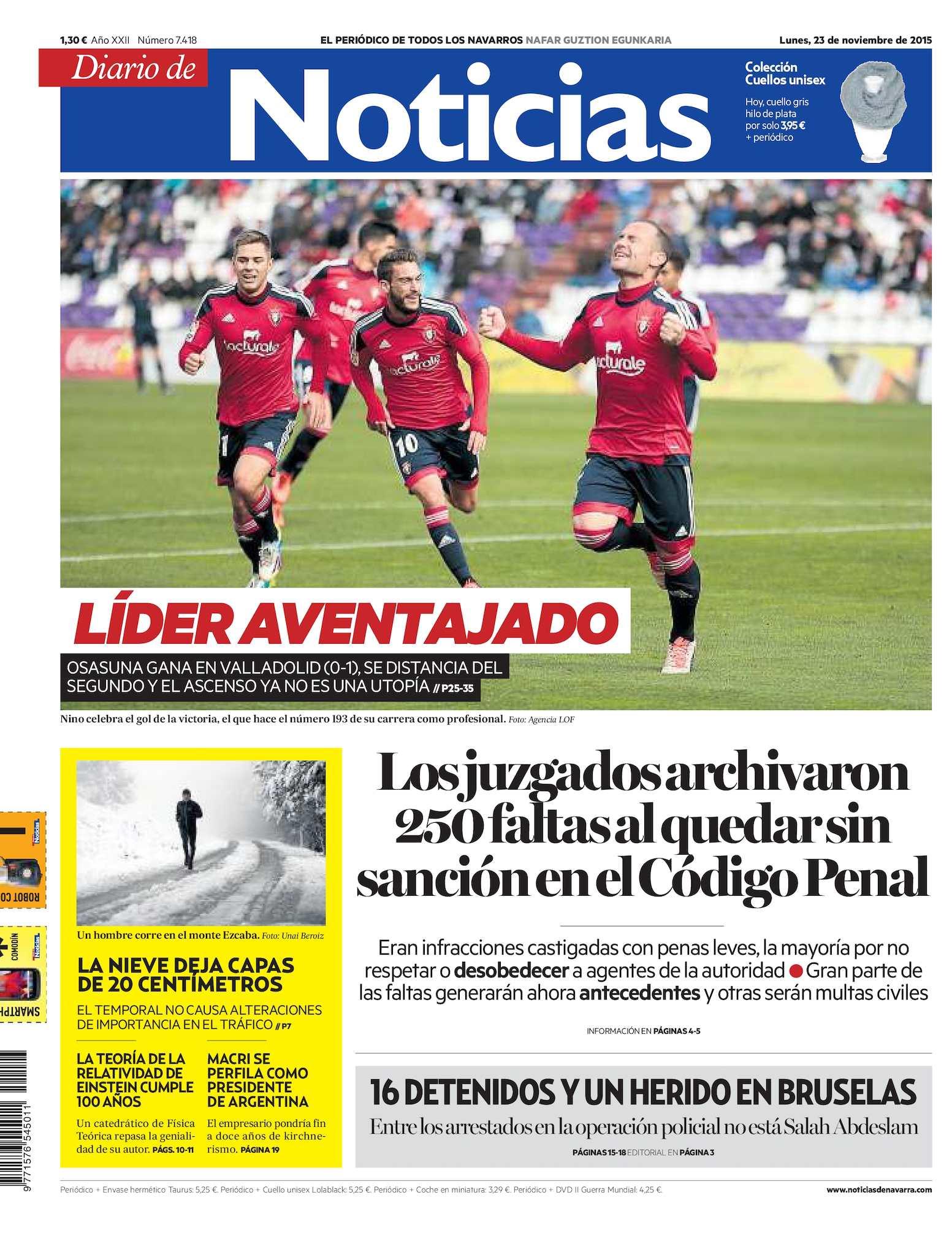 fe881810c Calaméo - Diario de Noticias 20151123