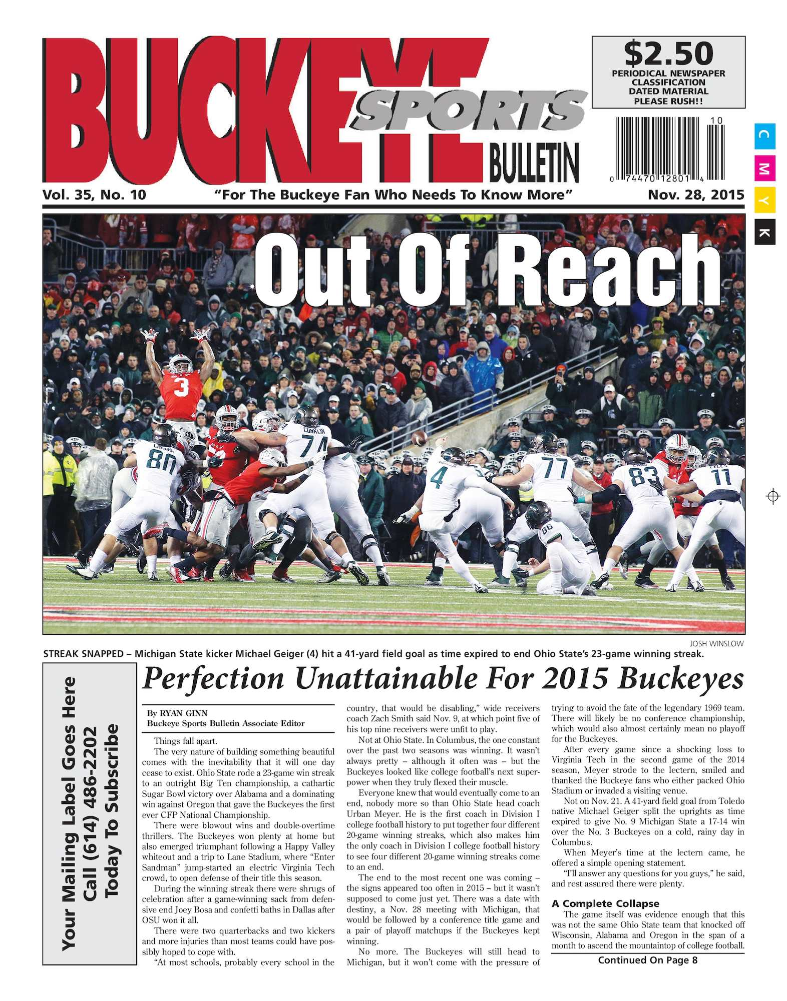 cbfc187b302 Calaméo - Buckeye Sports Bulletin November 28