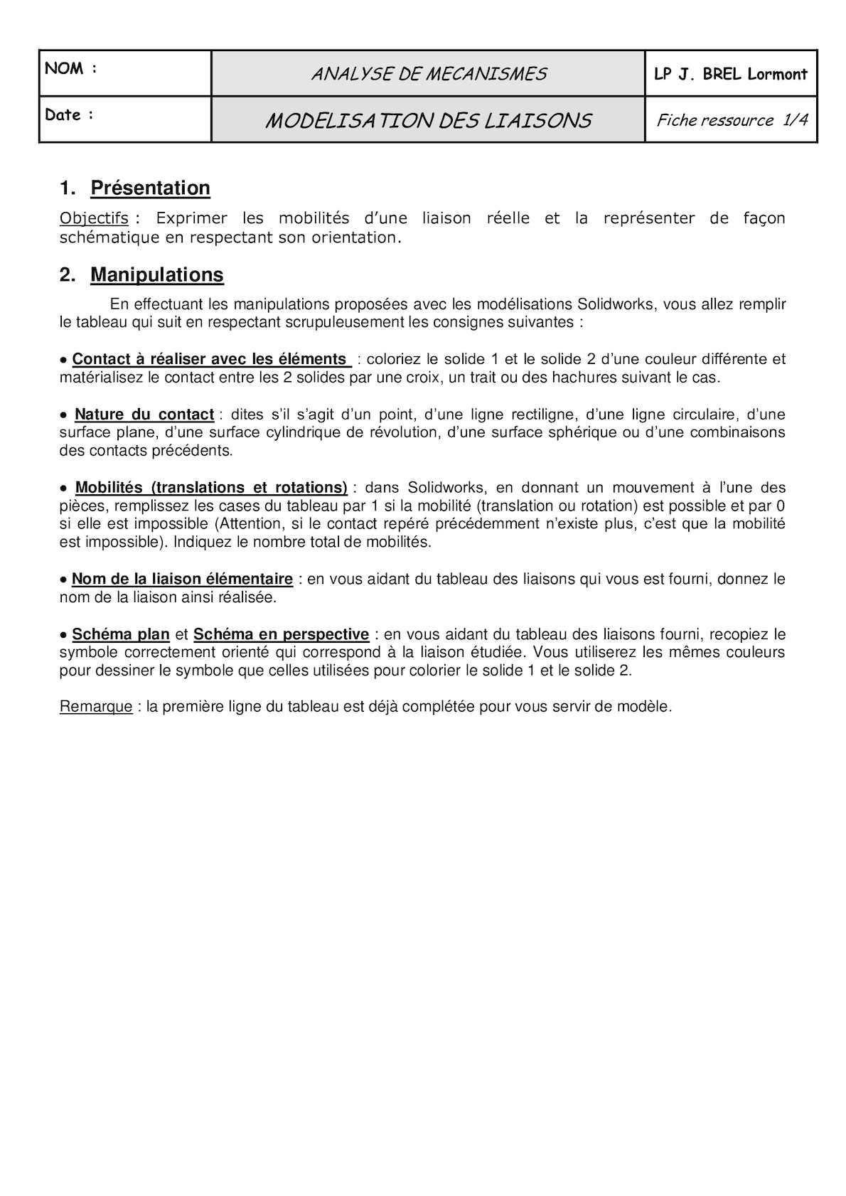 Calameo Td Def Mvt Liaisons Simples
