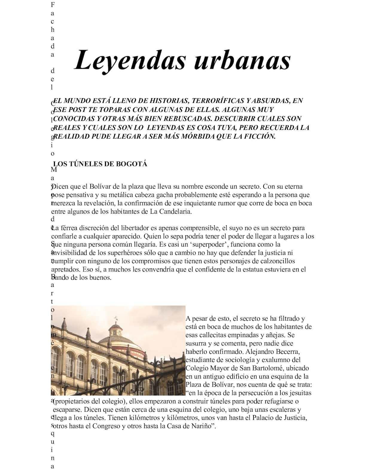 Calaméo Leyendas Urbanas