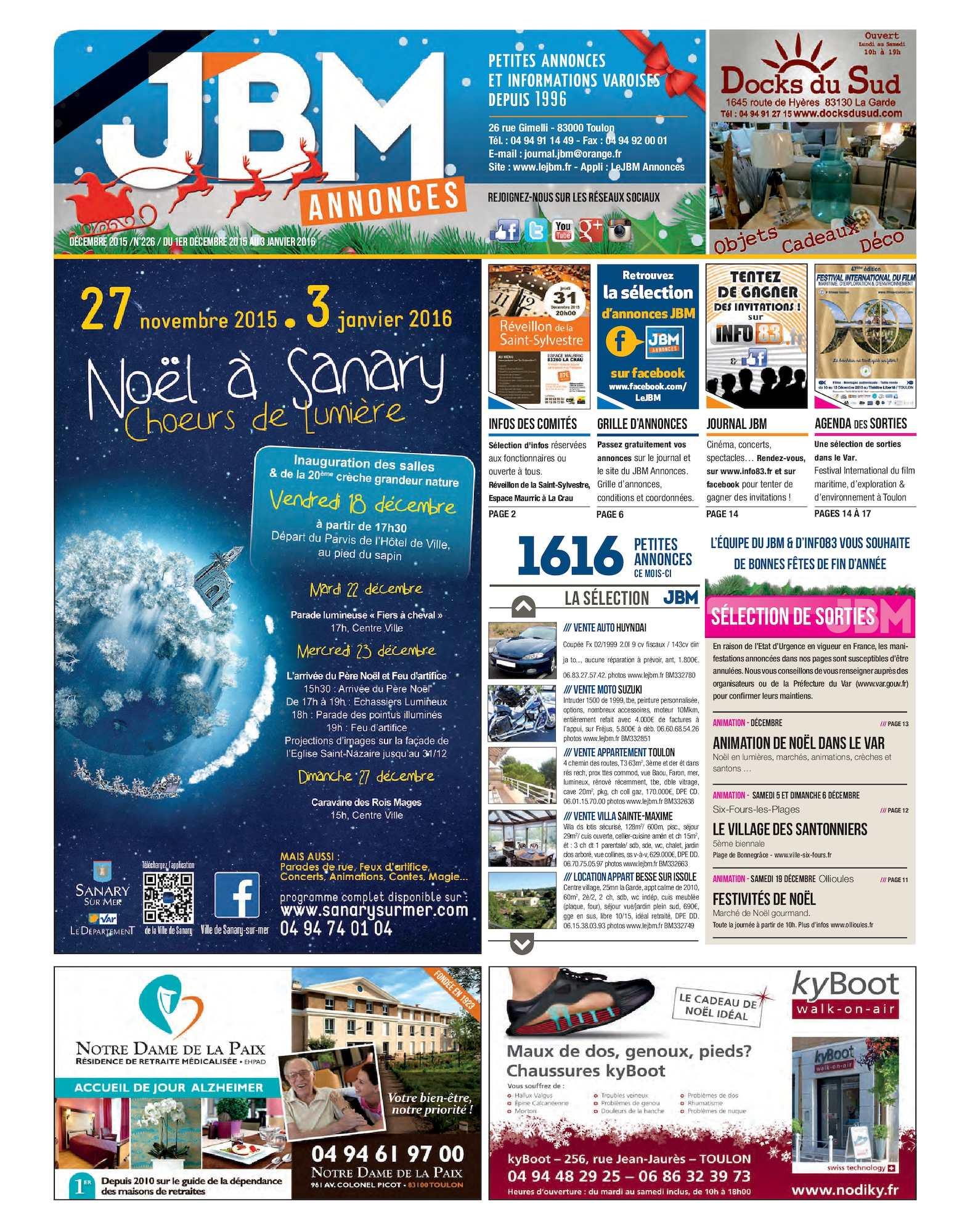 Calaméo - Journal JBM Annonces n°226 Décembre 2015 c8d6fed9afe