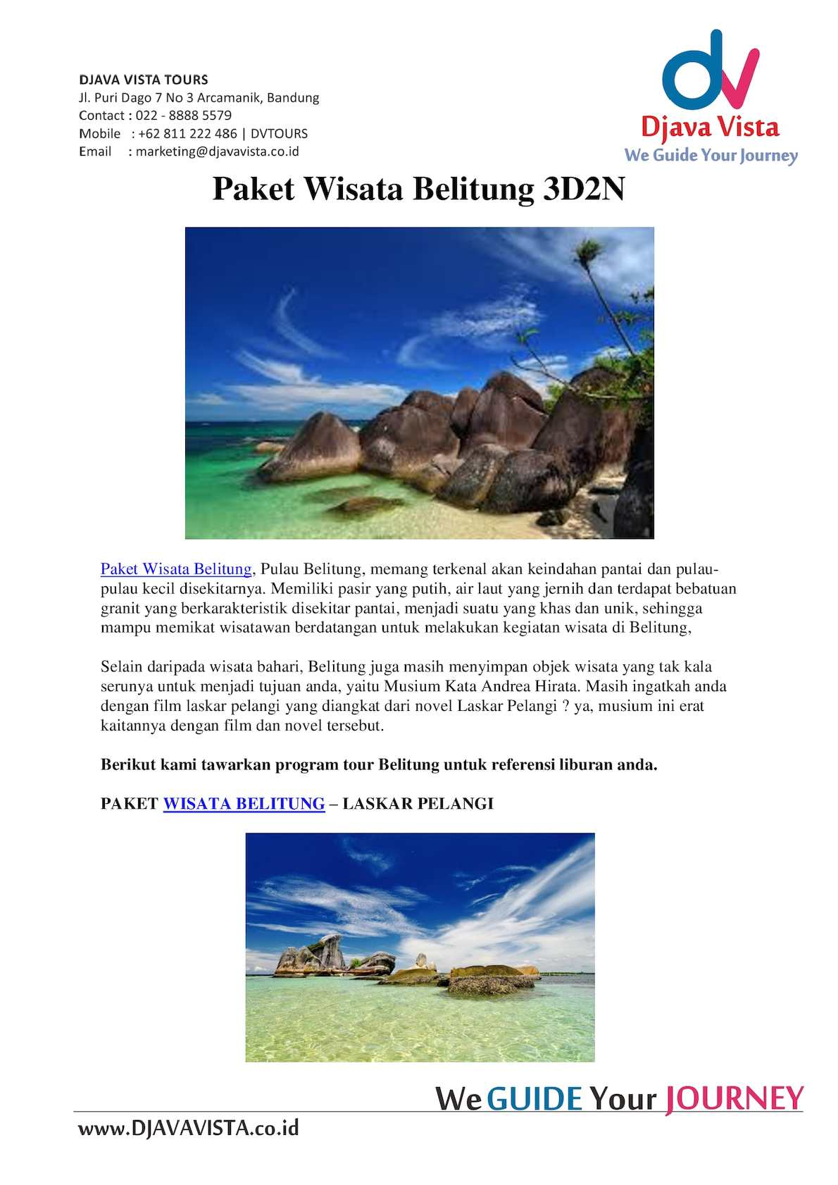 Calameo Paket Wisata Belitung 3d2n