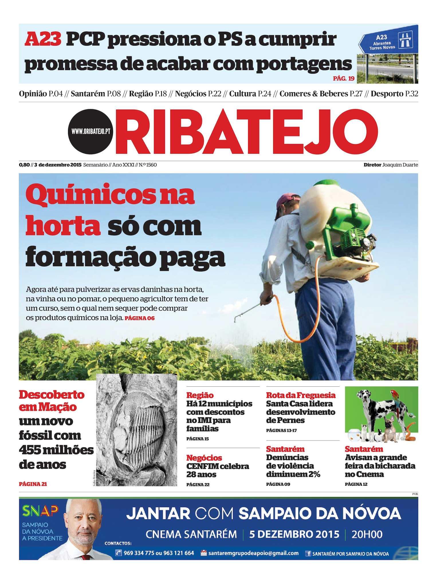 0438516d0e30a Calaméo - Edição 1560 do Jornal O Ribatejo - 3 de Dezembro de 2015
