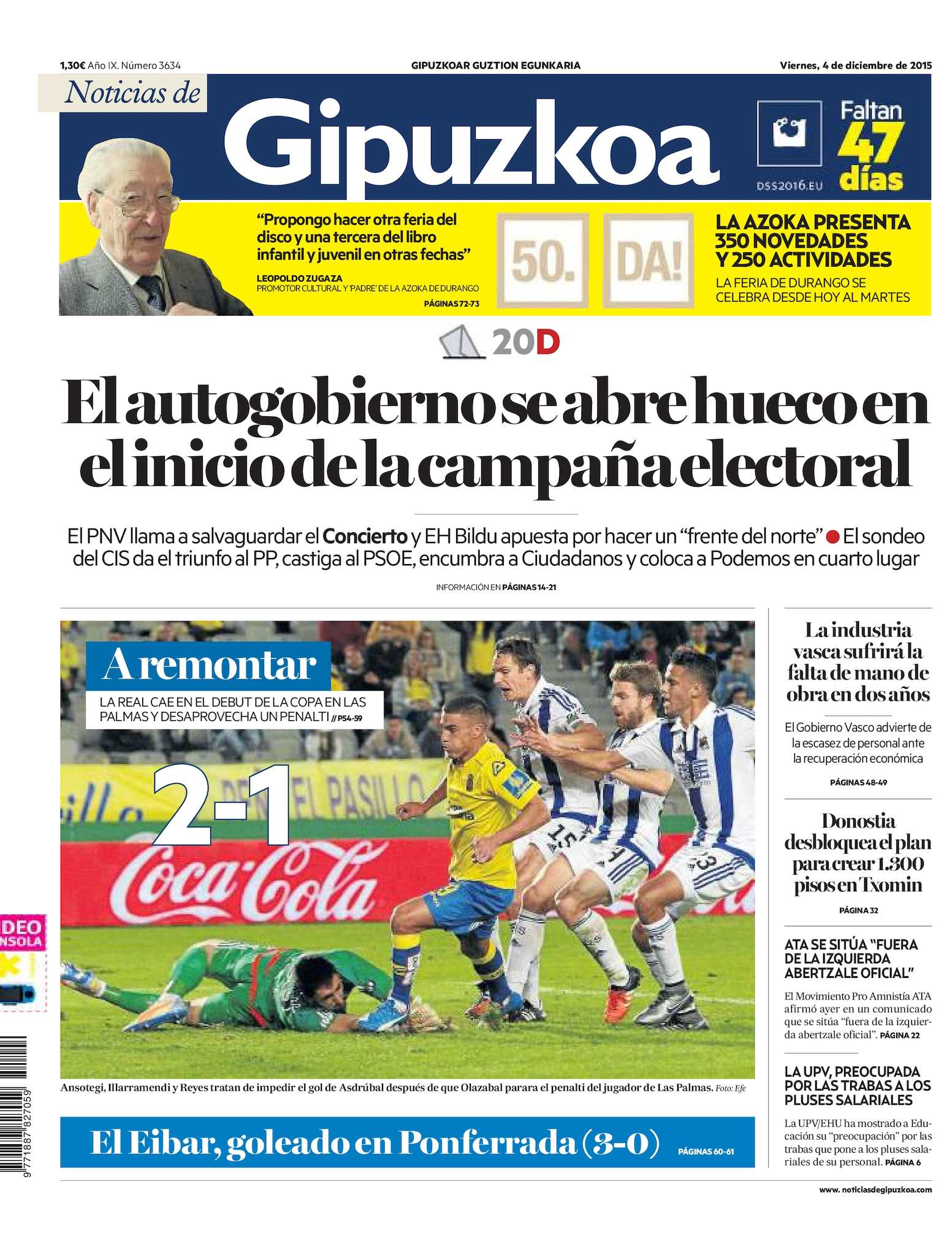 1e21622570a8c Calaméo - Noticias de Gipuzkoa 20151204
