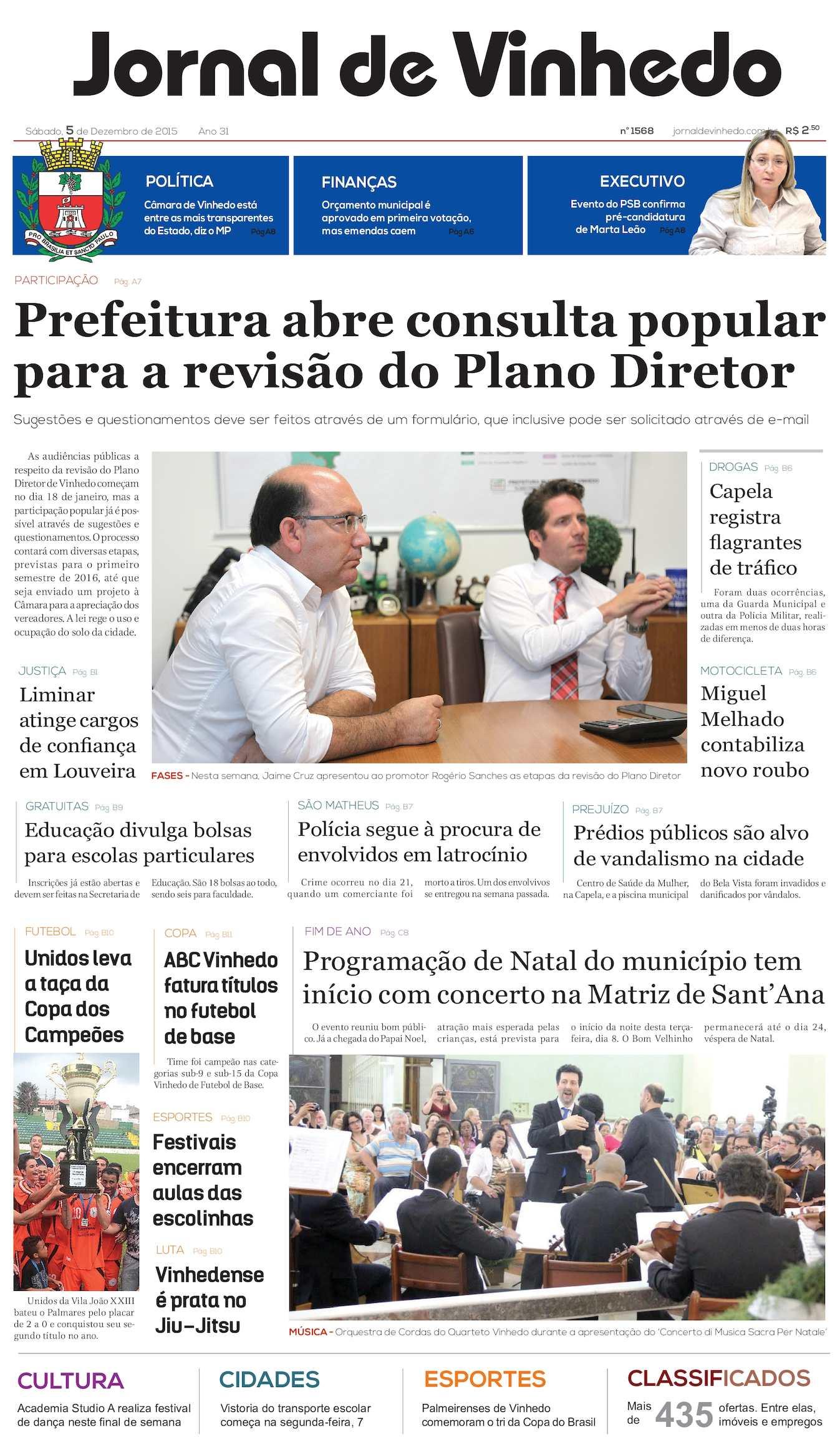 Calaméo - Jornal De Vinhedo Sábado 05 De Desembro De 2015 Edic 1568 Ok 506e1a3f93493