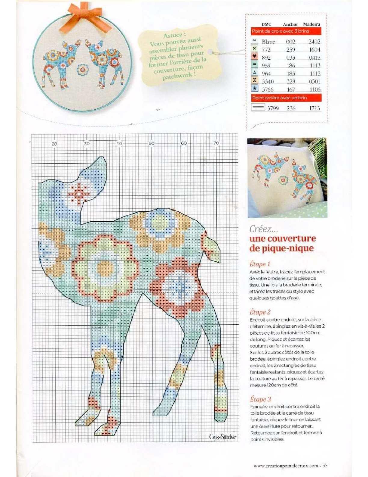 L Art Du Point De Croix creation point de croix 2015 50 - calameo downloader