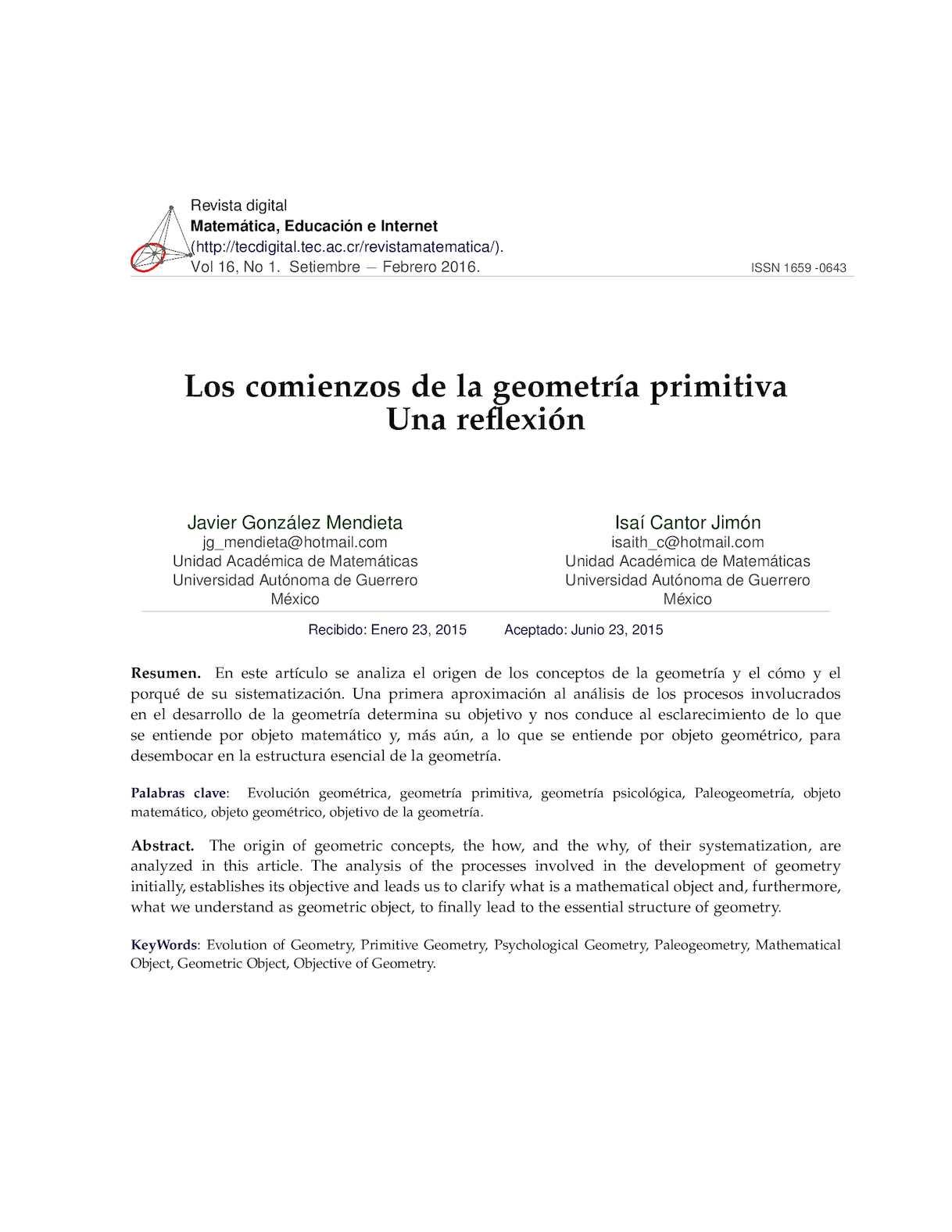 Calameo Revista Digital Gonzalez Historia De La Geometria