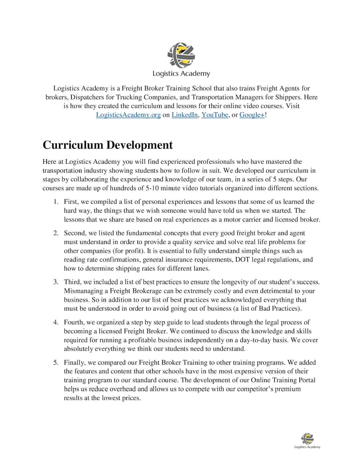 Calaméo - Freight Broker Training School Curriculum Development