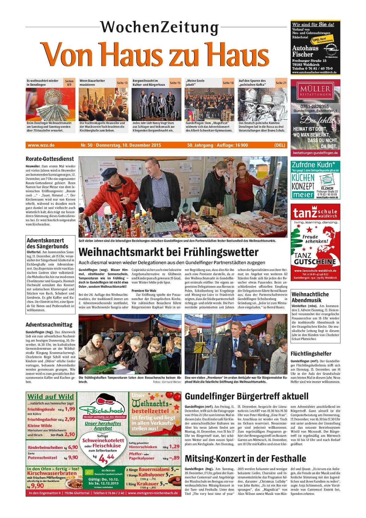 Weihnachtsmarkt Gundelfingen.Calaméo Vhzh Denzlingen Land
