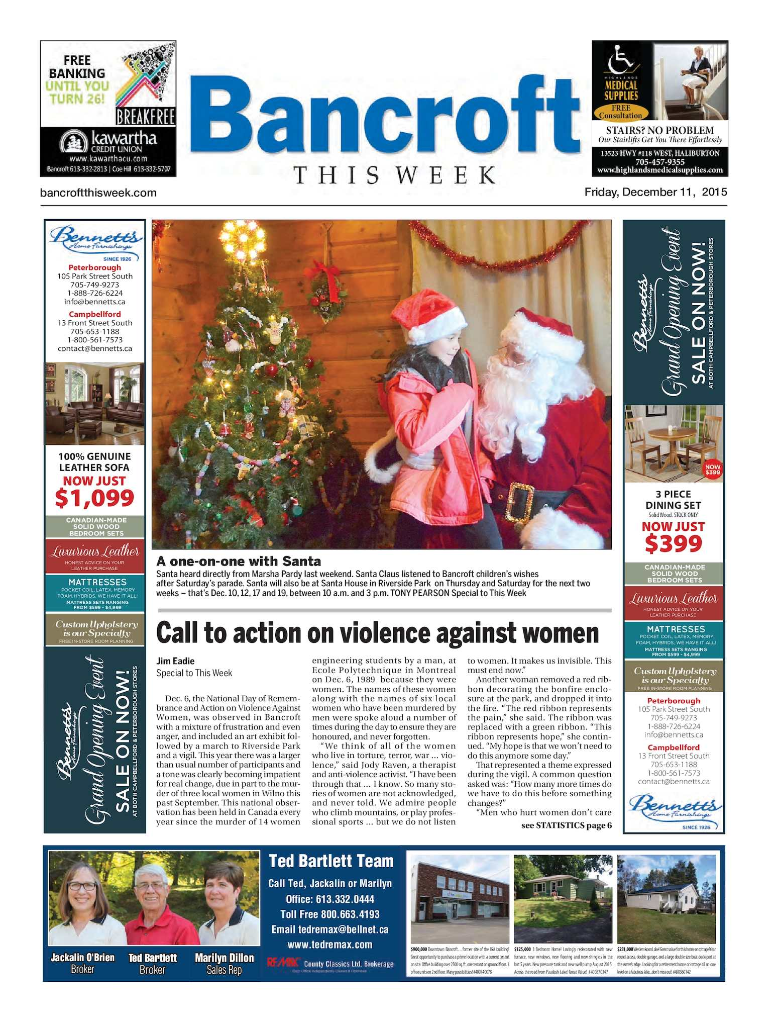 Calam O Bancroft This Week December 12 2015