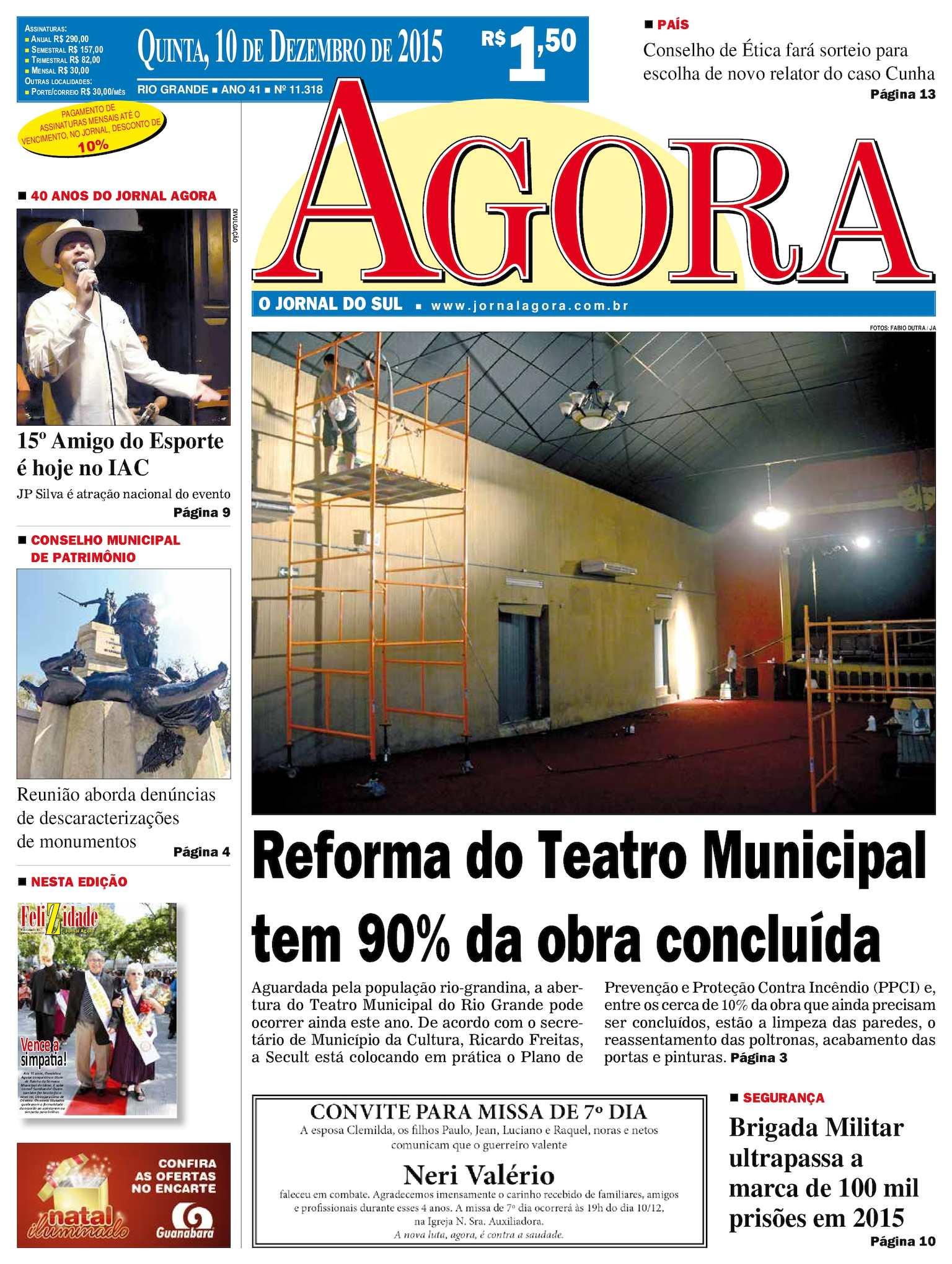1551e908f5f Calaméo - Jornal Agora - Edição 11318 - 10 de Dezembro de 2015
