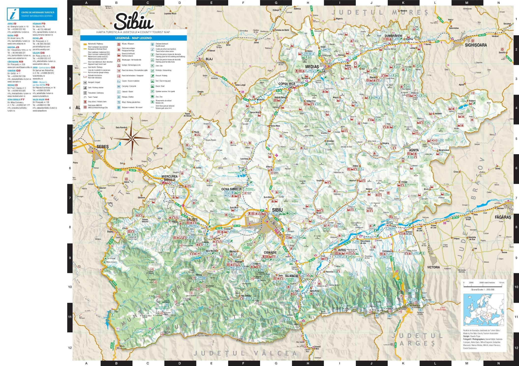 Harta Turistică A Judeţului Sibiu Calameo Downloader