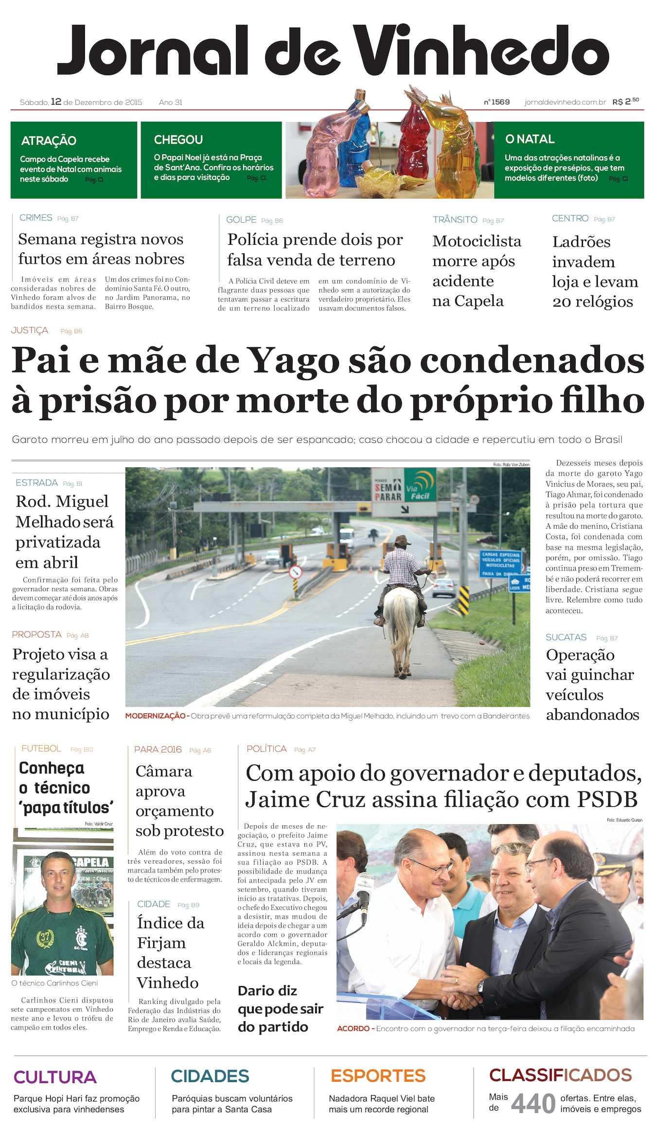 Calaméo - Jornal De Vinhedo Sábado 12 De Desembro De 2015 Edic 1569 Ok 03a34b68d0