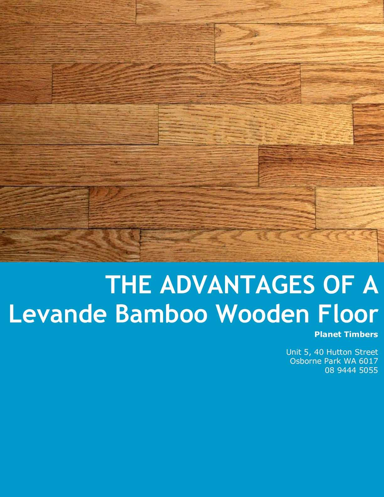 Calameo The Advantages Of A Levande Bamboo Wooden Floor