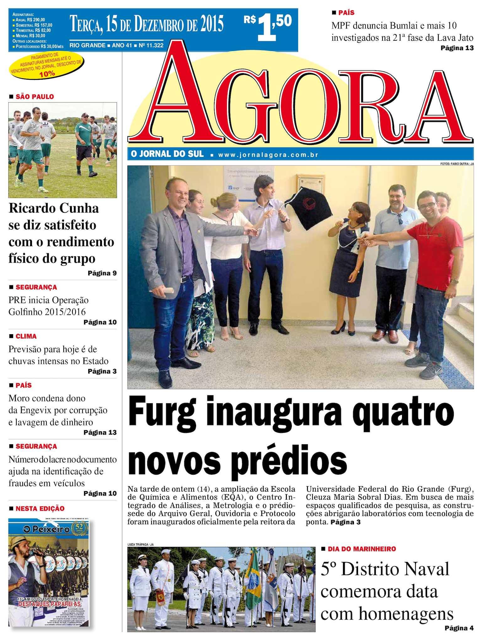 01d0a6892c Calaméo - Jornal Agora - Edição 11322 - 15 de Dezembro de 2015