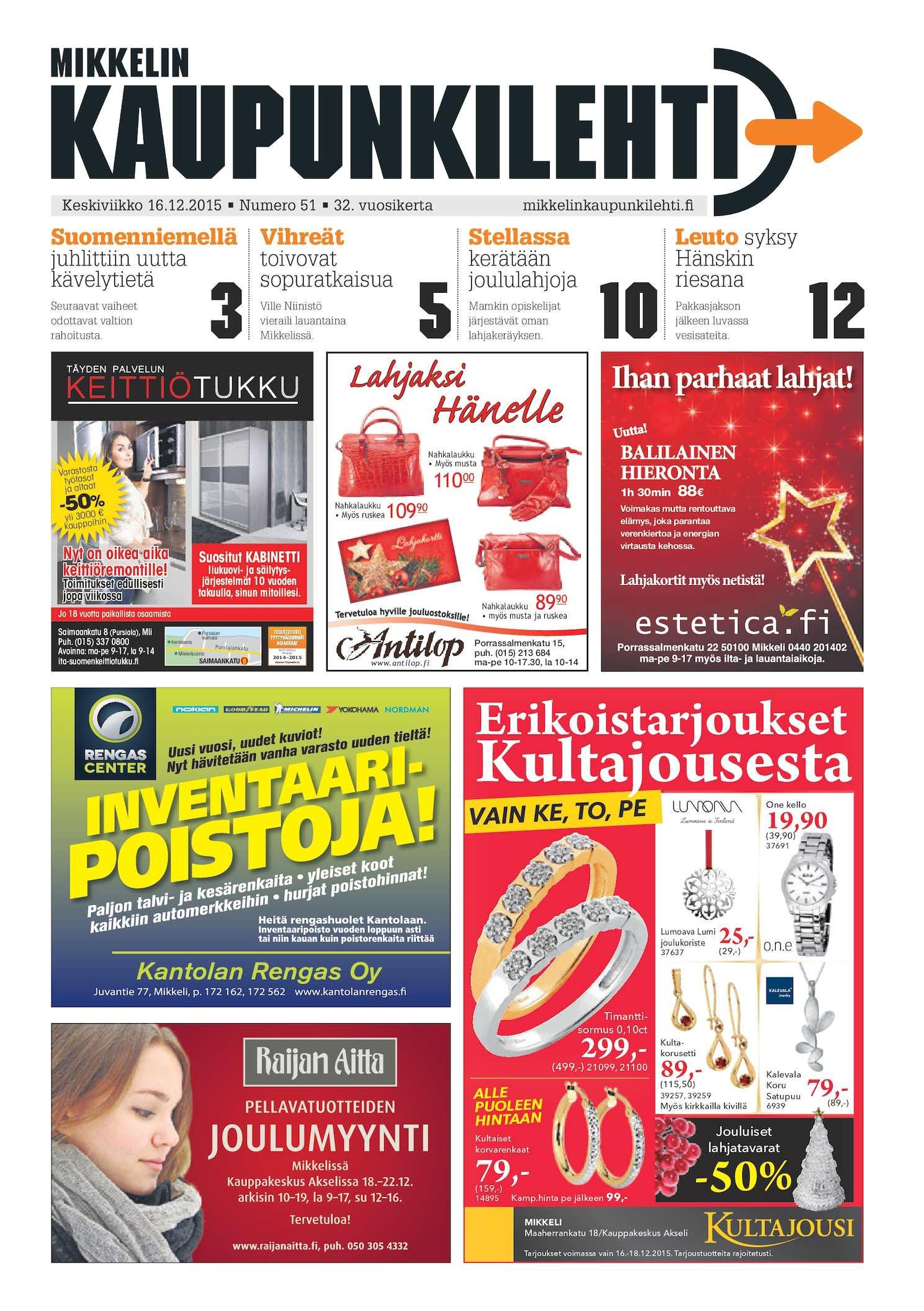 Calaméo - Mikkelin Kaupunkilehti 51/2015