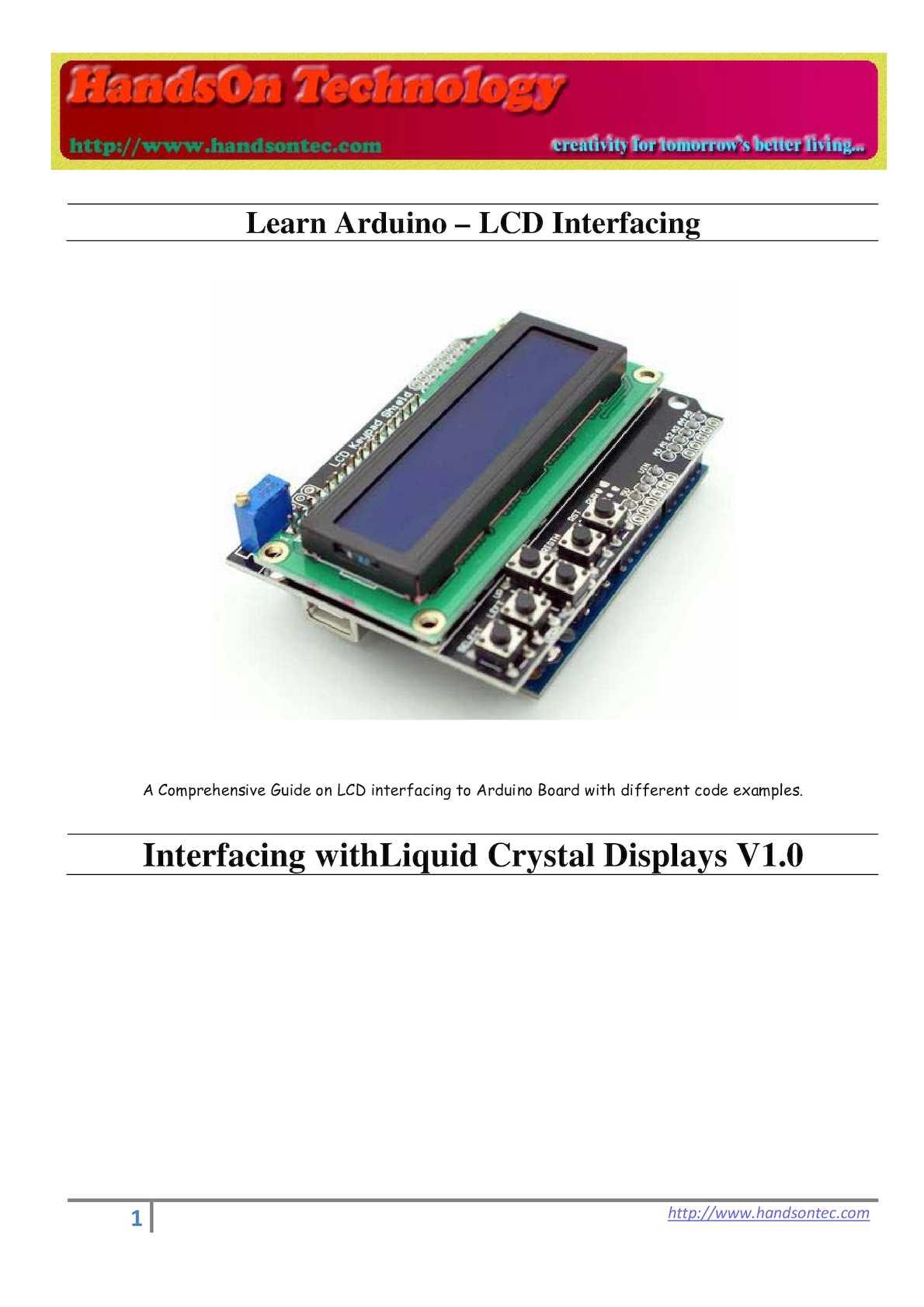 Calaméo - Interfacing LCD to Arduino-V1