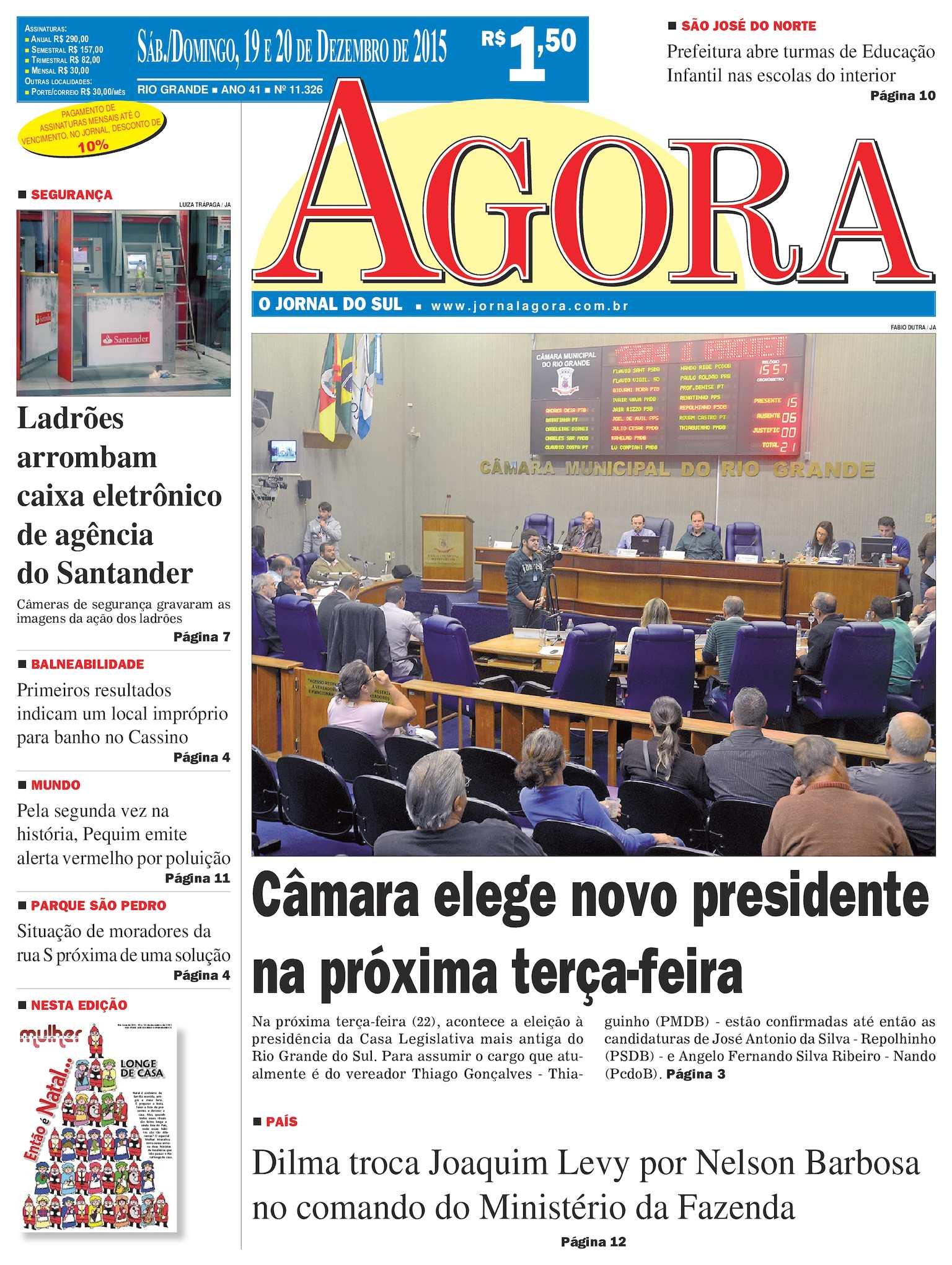 0c891a8295 Calaméo - Jornal Agora - Edição 11326 - 19 e 20 de Dezembro de 2015