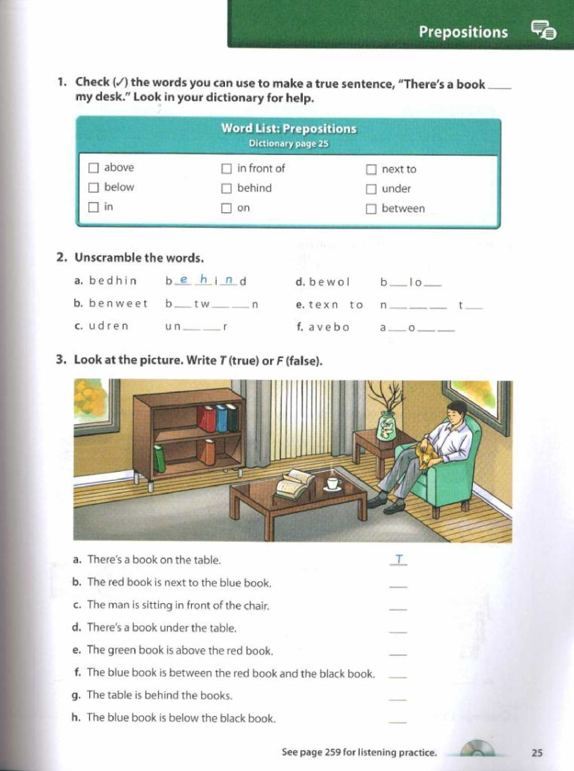 Oxford Picture Dictionary Low Beginning Workbook Vocabulary