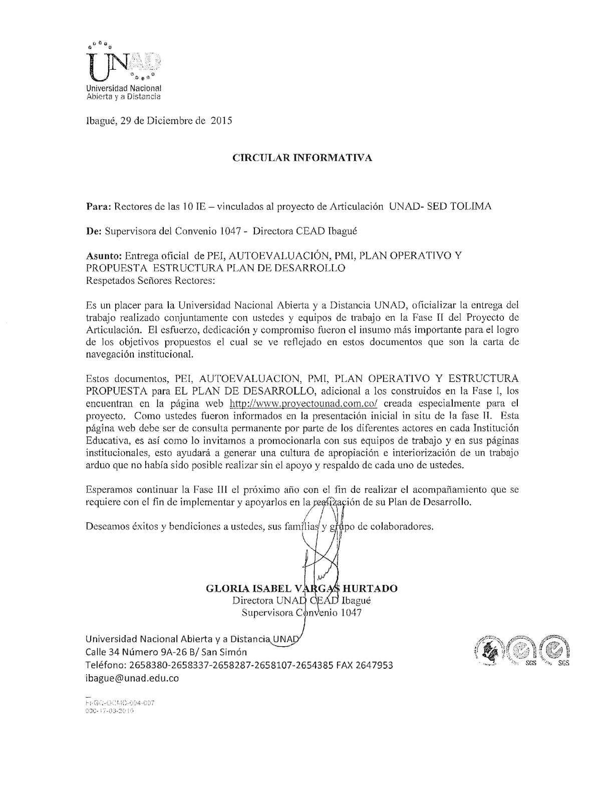 Calaméo Circular Informativa Rectores