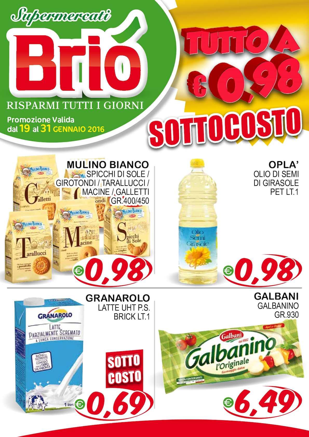 Volantino Briò Supermarket Dal 19 01 Al 31 01 16