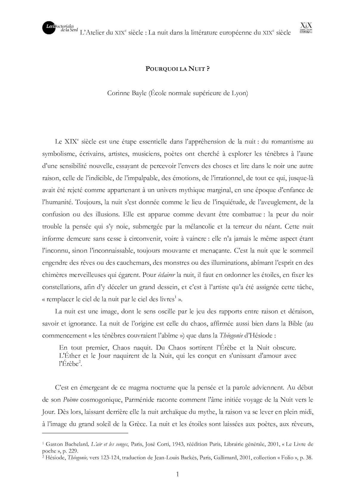 Calaméo La Nuit Dans La Littérature Européenne Du Xixe