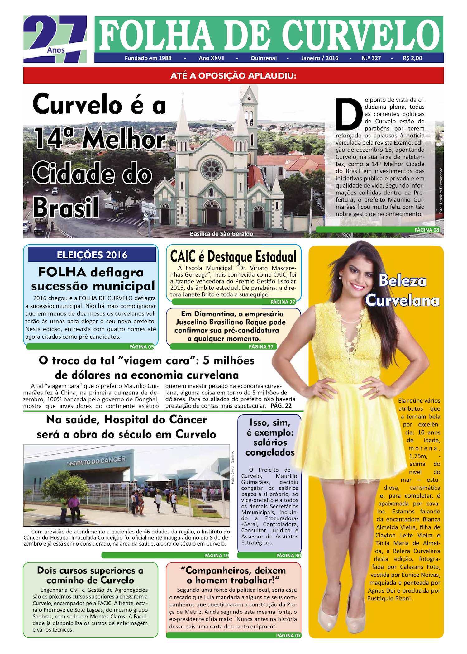 87a0269a34 Calaméo - Jornal Folha de Curvelo