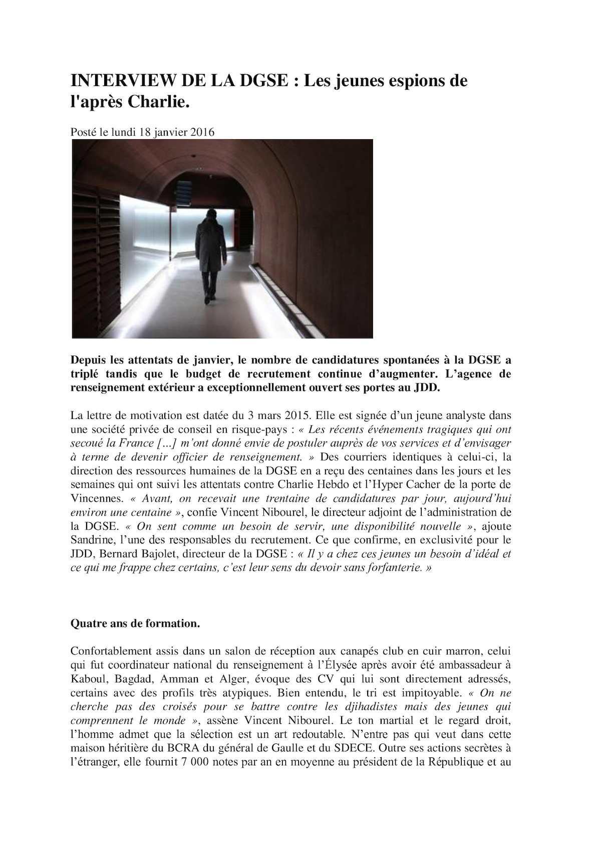 Calameo Interview De La Dgse