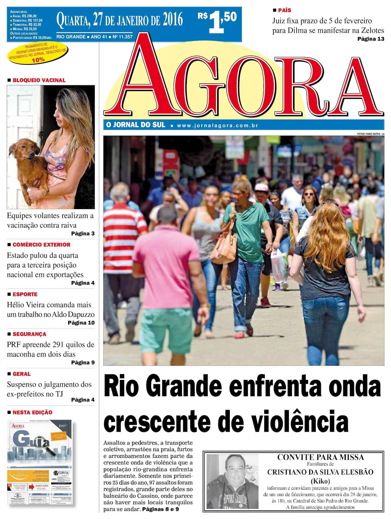 fd12e947ce2 Calaméo - Jornal Agora - Edição 11357 - 27 de Janeiro de 2016