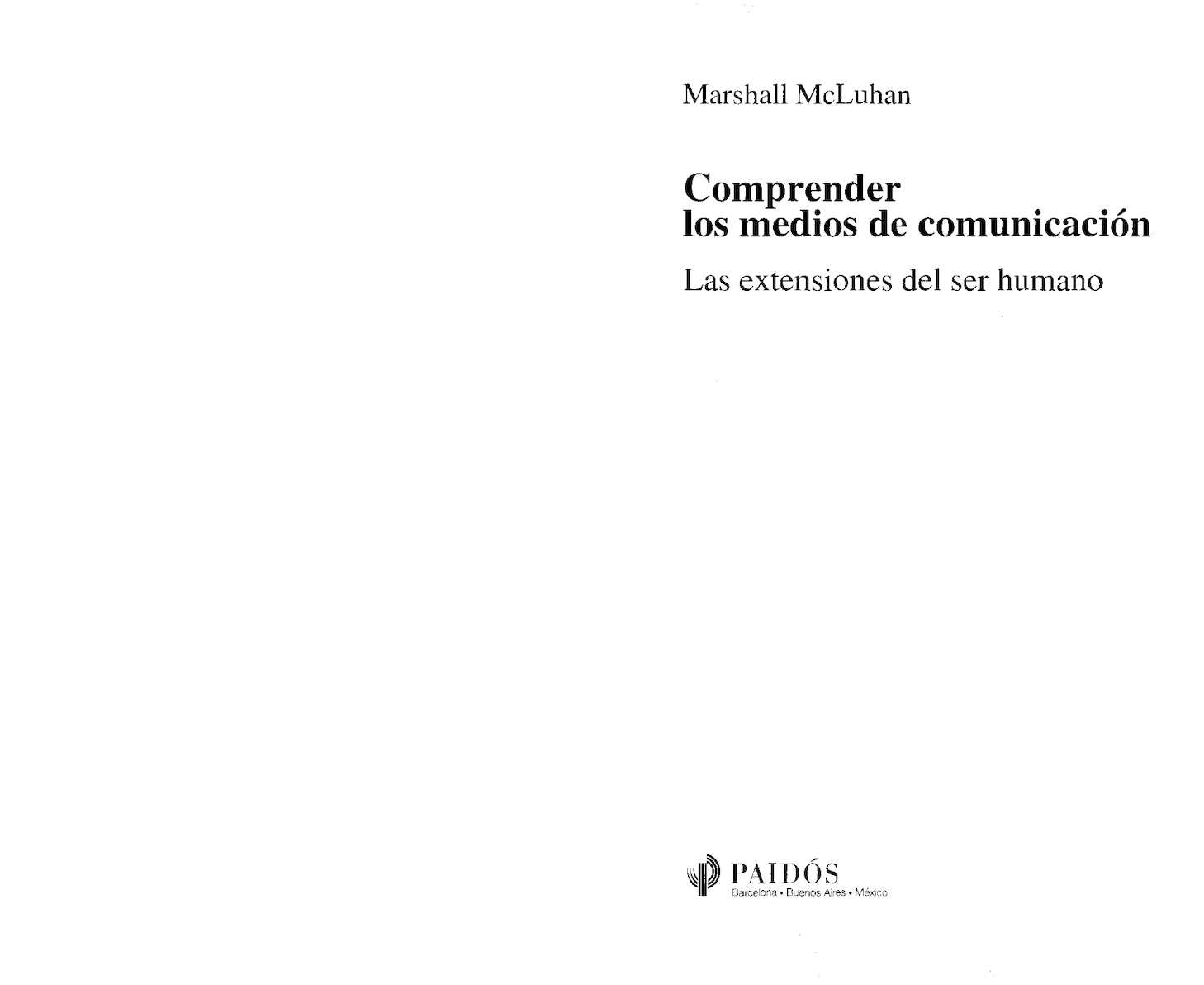 Calaméo - Mc Luhan Marshall Comprender Los Medios De Comunicacion 41a10caaae1